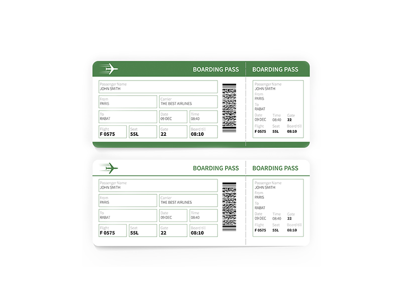 Boarding Pass / Ticketing (Pre-printed & Plain)